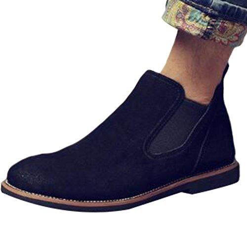 Vogstyle Unisex - Erwachsene Stiefel Classic Chelsea Boots 4 Farben Schwarz EU 40=ASIAN 41
