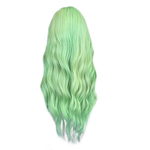 (POTOU 2Langes grünes Rollenkostüm der Frau mit langem Haar und langem Haar)