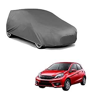 Autofurnish Matty Grey Car Body Cover Compatible with Honda Brio - Grey