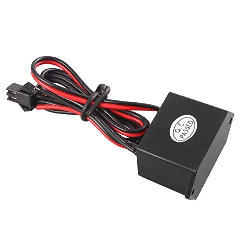 Tree-on-Life 1Pcs für EL Lamp Wire Elektroluminescent Black 12V DC bis 120V AC Inverter 5M Meter 2 seitliche Löcher für Sie an Bord leicht zu befestigen (12 Volt Zu Ac Inverter)