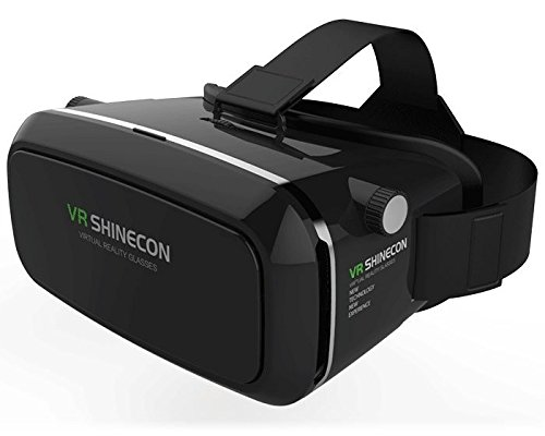 Piqancy VR Virtual Reality 3D Glasses Headset for Android & Apple Smartphones Within 6 inch, Ideal for 3D Videos Movies Games (Black)