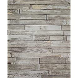 De paneles de madera - marrón/verde - rústico - de madera - papel pintado para pared