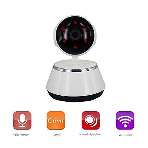 SpaceProTech Überwachungskamera IP Kamera 720P H D1 Megapixel drahtlos Startseite Baby Monnitor,Einfacher Remote-Zugriff über PC Smartphone,Zwei-Wege-Audio,Sicherheits-Warnung,Nachtsicht,Unterstützt Android und ios System