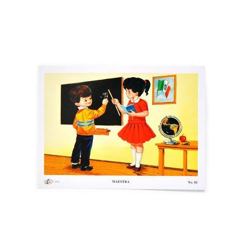 fantastik-poster-mexicano-vintage-profesiones-mini-maestra