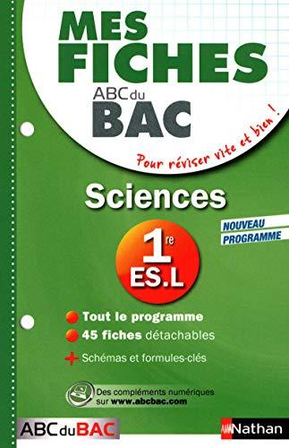 Mes Fiches ABC du BAC Sciences 1re ES.L