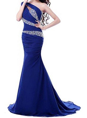 PLAER -  Vestito  - Monospalla - Donna blu - blu oltremare