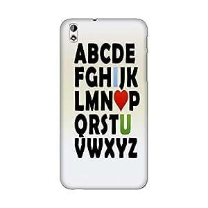 Abhivyakti Love Abc I love u Hard Back Case Cover For HTC Desire 816