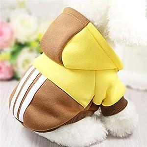 Feidaeu Vêtements de Chien Chaud pour Petit Chien Doux Hiver Chiot Costume Manteau pour Animaux de Compagnie pour Petit Chien Yorkshire Chihuahua Capuche