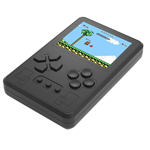 ZHISHAN Portable Handheld Spielkonsole in 318 Classic Retro Old Style Videospiele Gebaut Perfekt für Urlaub oder Reise Entertainment Surprise Geburtstagsgeschenk für Kinder und Erwachsene (Schwarz) (And Watch Nintendo Game)