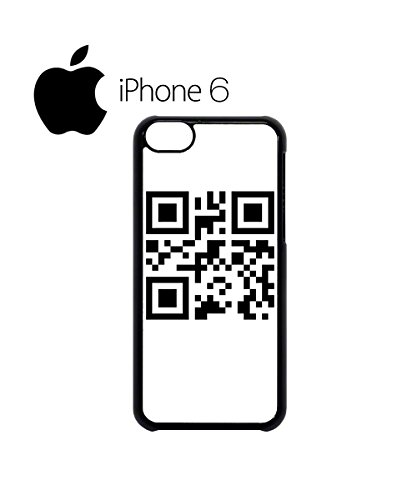 QR Code Barcode Secret Message Scan Swag Mobile Phone Case Back Cover Hülle Weiß Schwarz for iPhone 6 White Schwarz