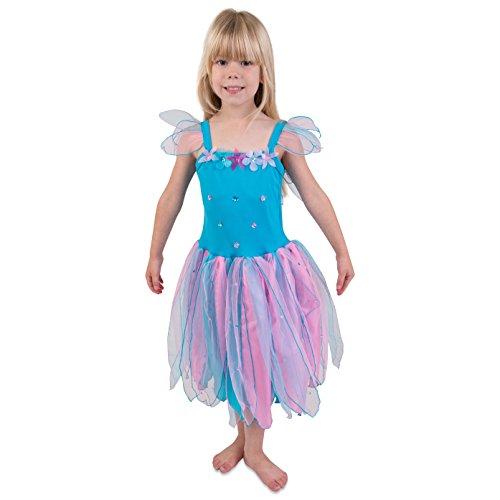 Rittersporn Blumenfee Kostüm Kinder - Karneval Fee Kostüm -