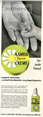 1960 - Inserat / Anzeige: KAMILL GLYCERIN CREME / FÜR JEDE HAND- Format 110x280 mm - alte Werbung / Originalwerbung/ Printwerbung / Anzeigenwerbung / Advertisement