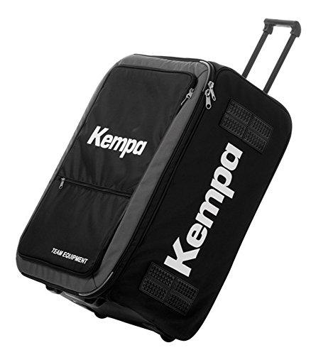 Kempa Sportskanone Mannschafts Trolley Tasche mit Rollen und Zuggriff Schwarz