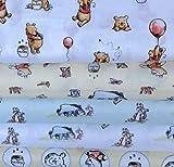 Visage Winnie Puuh & Friends VISFB29-5 Stoffbündel für Kinderzimmer, 100% Baumwolle