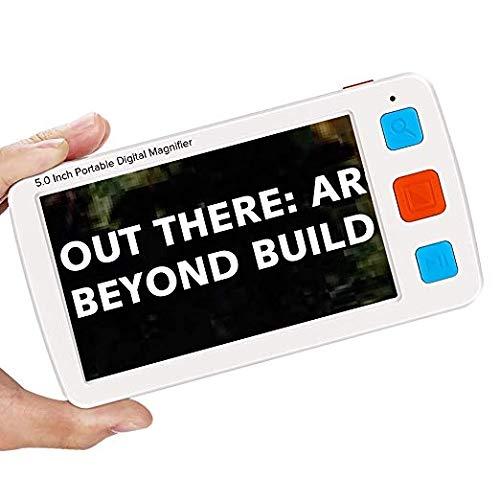 Eyoyo Handportable Video Digital Magnifier Elektronische Lesehilfe Leselupen mit Sprachaufforderung Funktion (5.0 Zoll) (Video-lupe)