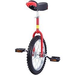 """Paneltech 16""""/ 20"""" Kid's/Adulte Formateur Monocycle Hauteur Réglable Anti-dérapant Butyl Montagne Pneu Équilibre Cyclisme Exercice Vélo Bike (16"""")"""
