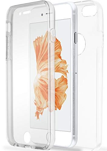 ONEFLOW Dünne Doppelhülle [vorne + hinten] aus Silikon kompatibel mit iPhone 6S / iPhone 6 | Kristallklarer 360° Rundumschutz, Farblos