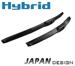 530mm 450mm HYBRID 2x Front Scheibenwischer Premium Qualität Wischerblätter Set Scheibenwischerblätter Satz für Frontscheibe mit Hakenbefestigung. INION NEW JAPAN HYBRID FLEX TECHNOLOGY