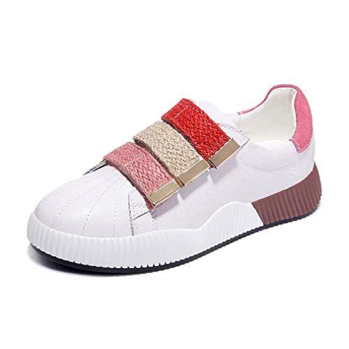 YAN Damenschuhe Low-Top Casual Shoes Spring Fall Academy Deck Schuhe Leder Sportschuhe Fitness & Cross-Training Schuhe,B,39 - Cross-training Sportschuh
