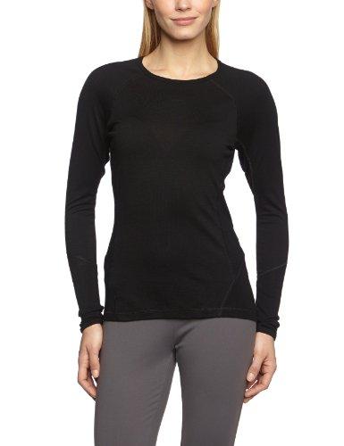 Smartwool Damen Women's NTS Light 195 Crew Pullover Bekleidung, Black, XL - Smartwool Womens Running Light