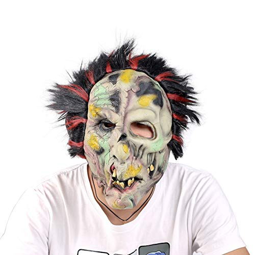 (BYNQR Beängstigende Maske Halloween Horror Kopfbedeckung Ghost Male Erwachsene Weibliche Grimace Masquerade Devil Film Shooting Requisiten)