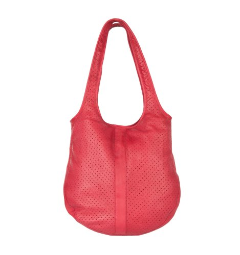 Cowboysbag Maybole Schultertasche Leder 35 cm Rose Red