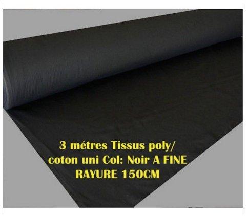 mwolle uni Kragen: Schwarz A Fine Stripe 150cm ()