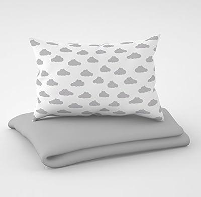 Juego de 3 piezas: ropa de cuna de 100 x 135 cm con sábana bajera y protector de almohada - seis fundas de almohada de terciopelo para la cuna de 70 x 140 cm.