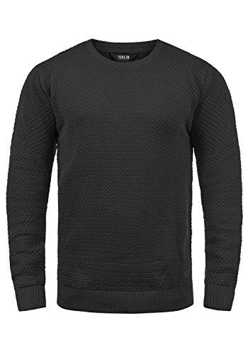 !Solid Karl O-Neck Herren Strickpullover Feinstrick Pullover Mit Rundhals Aus 100% Baumwolle, Größe:M, Farbe:Black (9000)