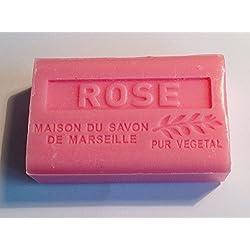 Provenzalische Seife Rose (Rose) mit Bio-Sheabutter (125 Gramm)