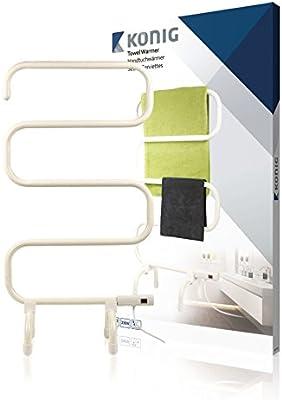König KN-TH10 secadora eléctrica para toallas 100 W Blanco - Secador de toallas (50-60 Hz, 230 V, 50 mm, 510 mm, 860 mm, 3,13 kg)