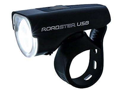 Sigma Sport LED Akku Fahrradbeleuchtung ROADSTER USB / NUGGET II Set, 25 LUX, wiederaufladbare Fahrradlampe + Rücklicht, StVZO zugelassen, Schwarz