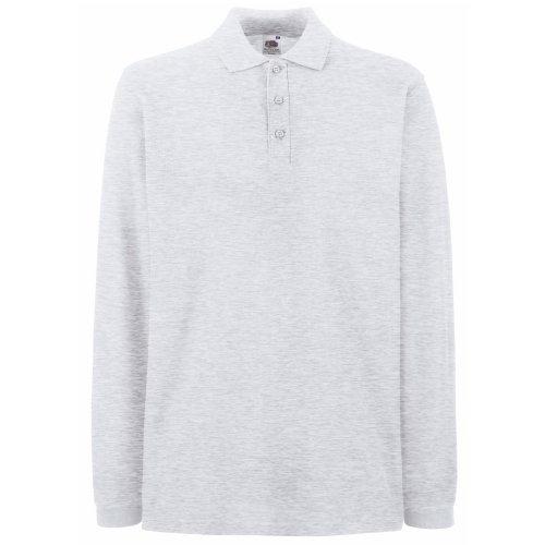 Fruit of the Loom Men's Premium Pique Long Sleeve Polo Shirt