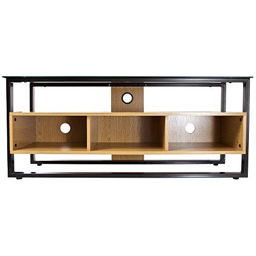 PROPER modernes Licht Holz und Glas TV Bodenständer Schra...