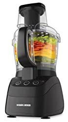 Black & Decker FP2500B PowerPro Wide-Mouth 10-Cup Food Processor, Black