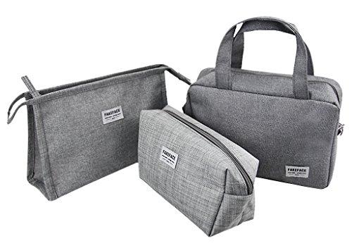 3er Set Reisegepäck Kosmetiktasche Kulturbeutel Robuste Aufbewahrungstasche Gepäcktaschen Set Multifunktion Beutel Reisetasche für Herren Damen