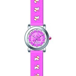 Chipie Mädchen-Armbanduhr Analog Kunststoff rosa 5203516