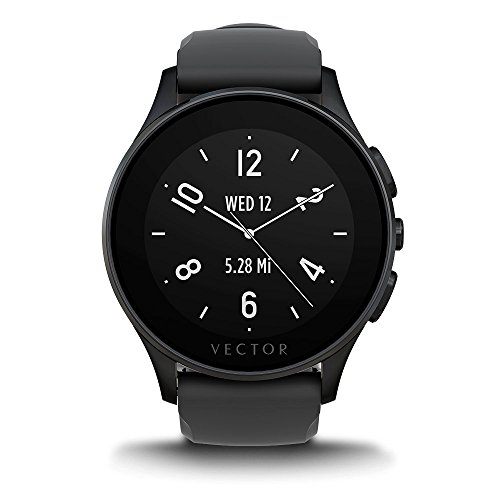 Vector Performance Luna Unisex Fit Smartwatch with IP Black Case, Silicon Band and 22 mm Standard Buckle