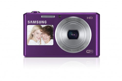 Samsung DV150F Smart-Digitalkamera (16,2 Megapixel, 5-fach opt. Zoom, 6,9 cm (2,7 Zoll) LCD-Display, bildstabilisiert, DualView, WiFi) lila Opt 2.7 In Lcd