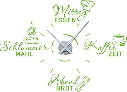 GRAZDesign 800611_SI_063 Wandtattoo Uhr Wanduhr mit Uhrwerk für Küche Spruch Mittagessen...