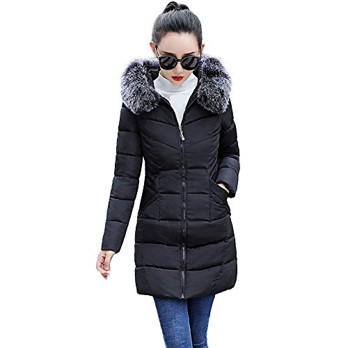 MIRRAY Damen Warmer Mantel Hooded Thicken Warm Slim Jacket Langer Mantel