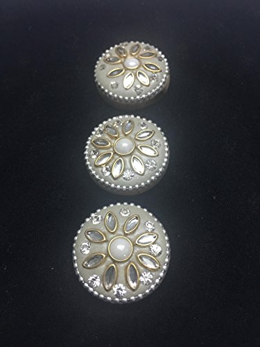 6 white pearl buttons for kurtis ethnic dresses growns
