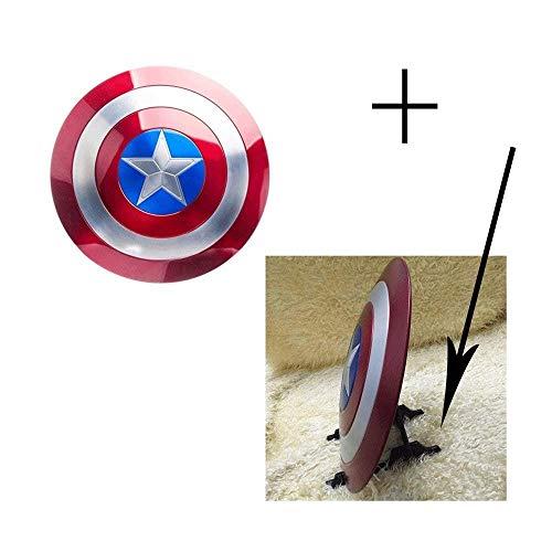 Adult Shield - Captain America Metallschild - 60 cm, 3,5 kg Avengers League Toys Kindergeburtstagsgeschenk-Sammlung