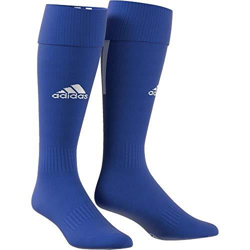 Adidas santos 18calzettoni, uomo, cv8095, blu/bianco, 43-45