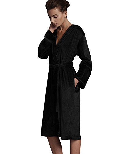 marks-spencer-autograph-luxury-hooded-dressing-gown-4-colours-ms-robe-16-18-standard-black