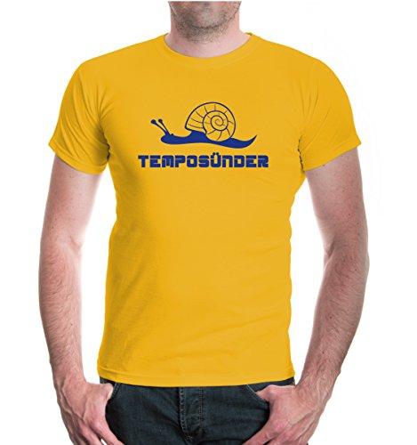 buXsbaum® T-Shirt Temposünder Sunflower-Royal