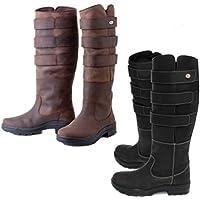 Rhinegold Elite Colorado Long Country Walking Yard Boots Brown Waxy Suede UK 7