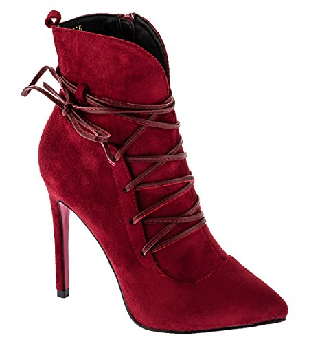 Shayenne , Chaussons montants femme Rouge