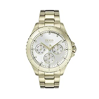 Hugo Boss Watch Reloj Multiesfera para Mujer de Cuarzo con Correa en Bañada en Oro 1502445