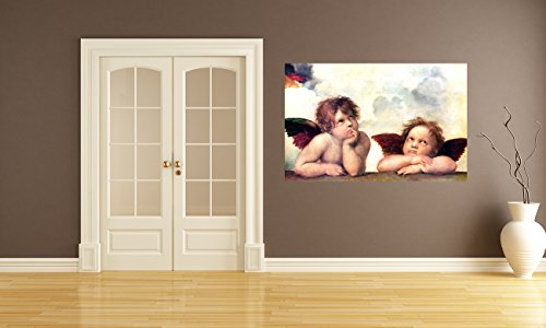 selbstklebende Fototapete Raffael - Alte Meister - Engel - Detail Sixtinische Kapelle - 155x100 cm - Tapete mit Kleber – Wandtapete – Poster – Dekoration – Wandbild – Wandposter – Wand – Fotofolie – Bild – Wandbilder - Wanddeko